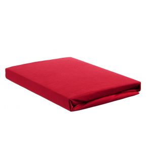 Beddinghouse Jersey Topper Fitted Sheet With Split Red
