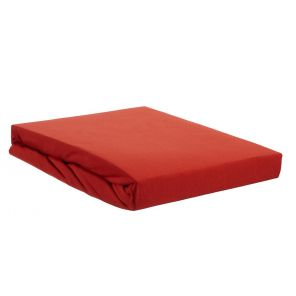 Beddinghouse Lycra Topper Fitted Sheet With Split Coral Red