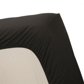 Ambiante Cotton Uni Fitted Sheet Black
