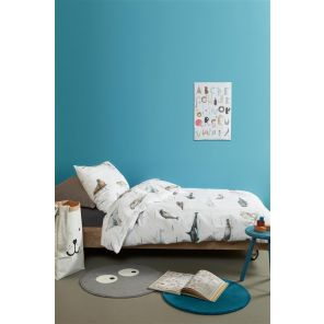 Beddinghouse Kids Polar Animals Grey