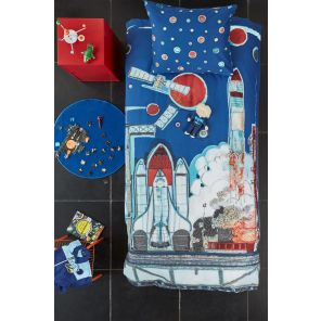 Beddinghouse Kids Rocket Ship Blue